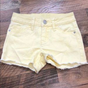 Girls yellow Stretchy short shorts